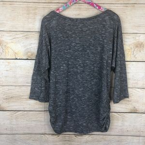 Maurices Tops - Maurices gray shimmer stripe top size XL // G16